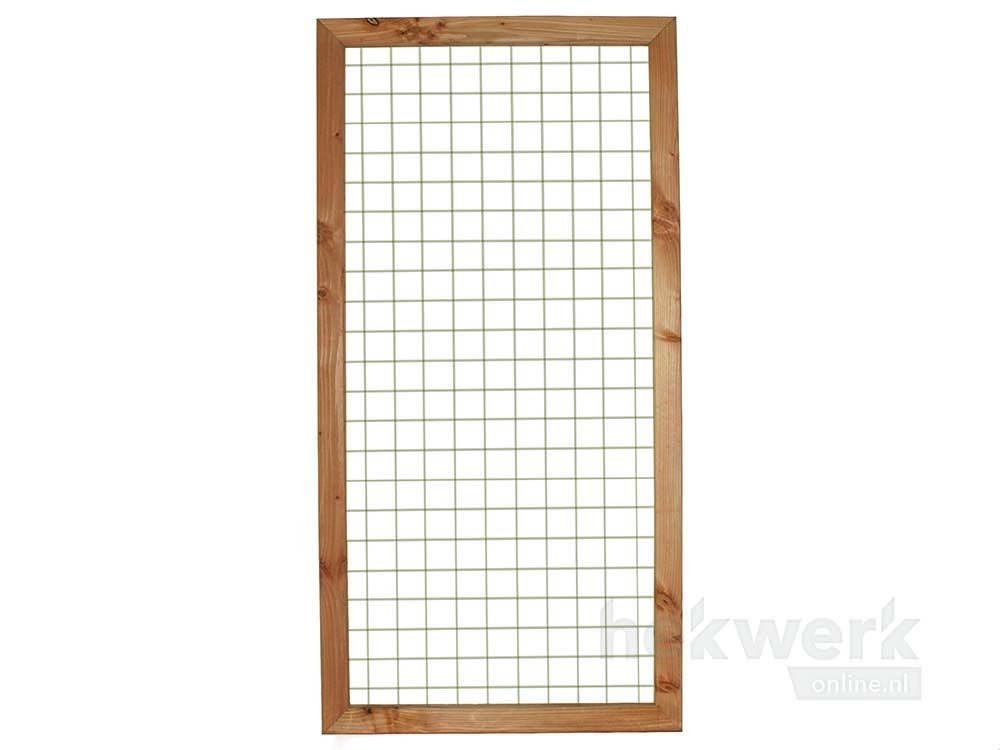Afbeelding van Gaaspaneel met houten kader Douglas | 180 x 180 cm & 90 x 180 cm