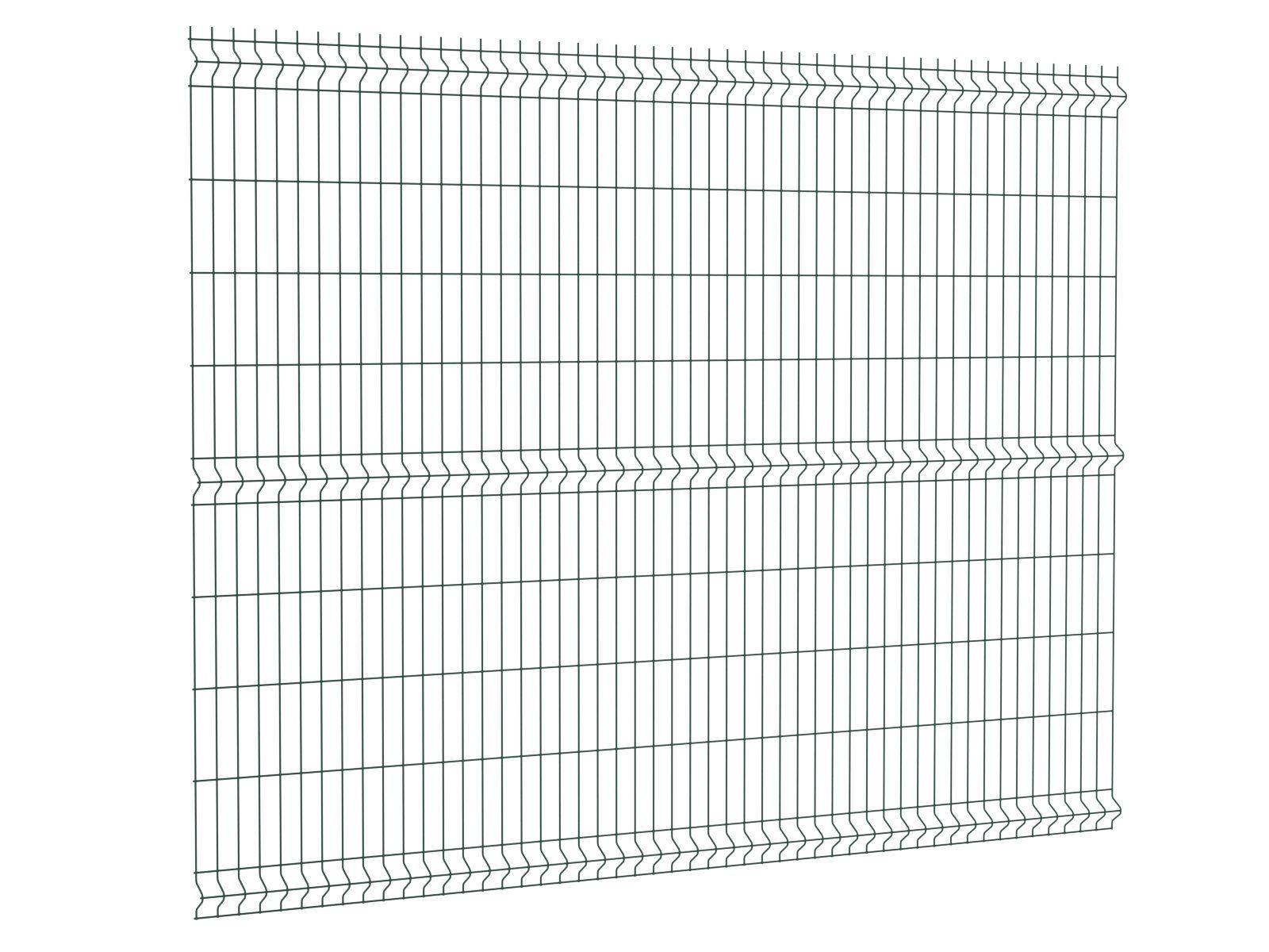 Afbeelding van Enkelstaafmat hek 200 x 193 cm (bxh) Groen RAL 6009