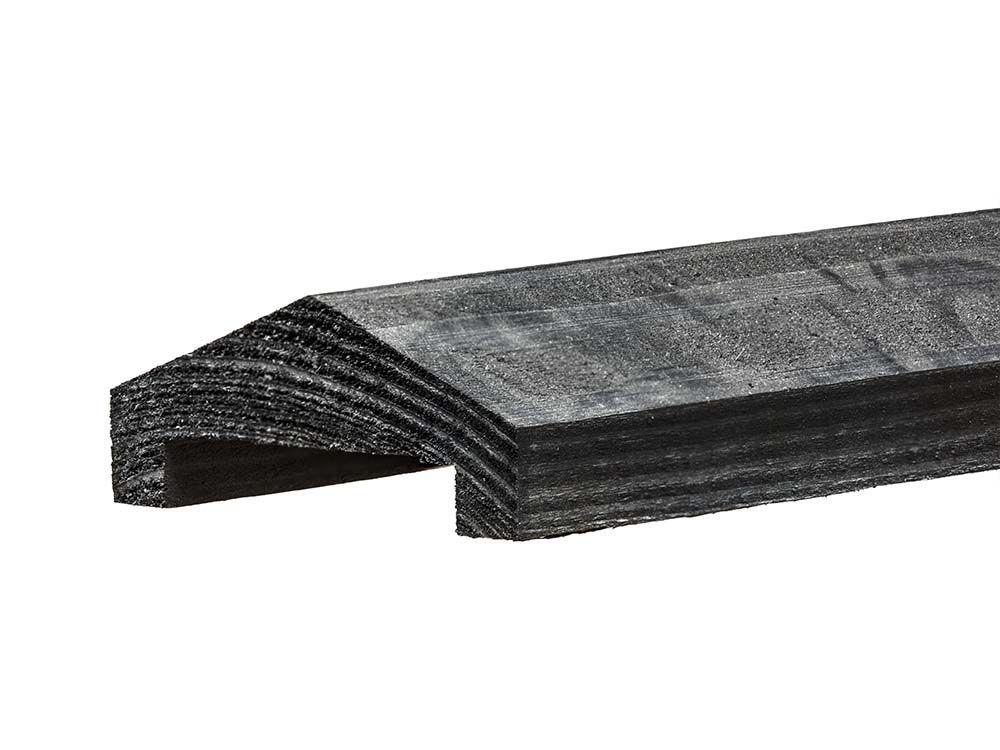 Afbeelding van Afdeklat zwart grenen | lengte 180 cm