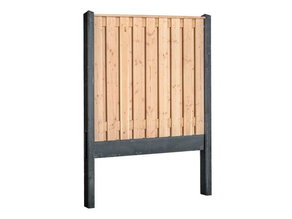 Afbeelding van Douglas hout-beton schutting pakket-Antraciet