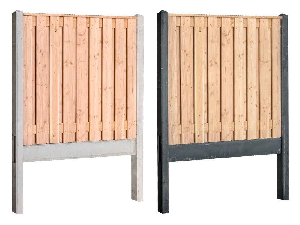 Afbeelding van Douglas hout beton schutting compleet pakket