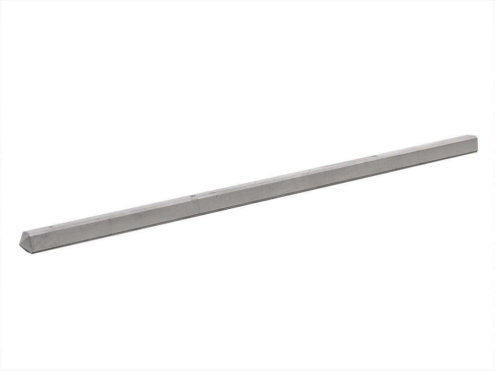 Afbeelding van Begin / eind-paal beton 10 x 10 cm lengte 280cm grijs