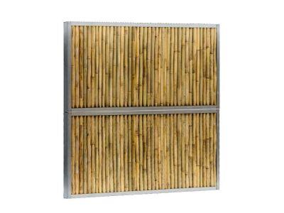 Bamboe schutting Geel bruin twee hoogtes 180 cm 120 cm