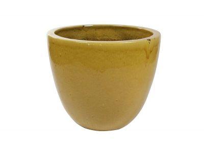 bloempot pure 58 cm honing geel