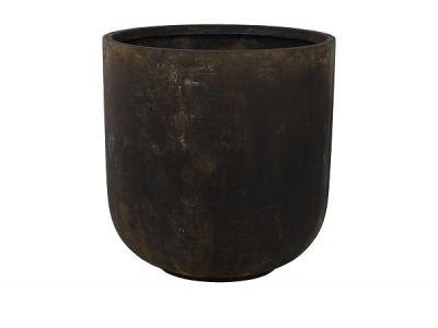bloempot static zwart 60 cm