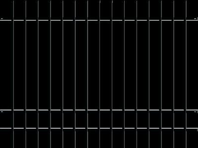 Sierhekwerk ceres zwart 200 cm breed