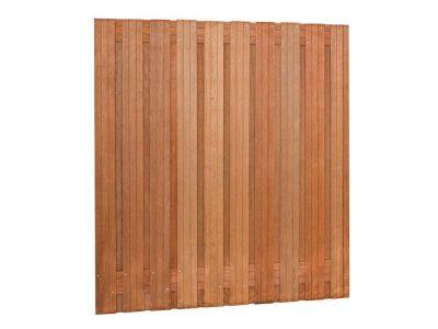 Hardhouten tuinscherm 21 planks Bruin verschillende hoogtes