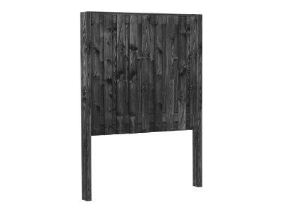 Zwart gespoten grenen houten schutting pakket