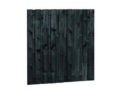 Zwart gespoten tuinscherm 19 planks