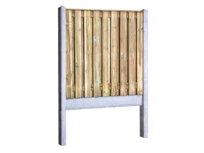 Grenen hout beton schutting pakket licht grijs