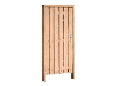 Douglas poort compleet inclusief hang sluitwerk en kozijn