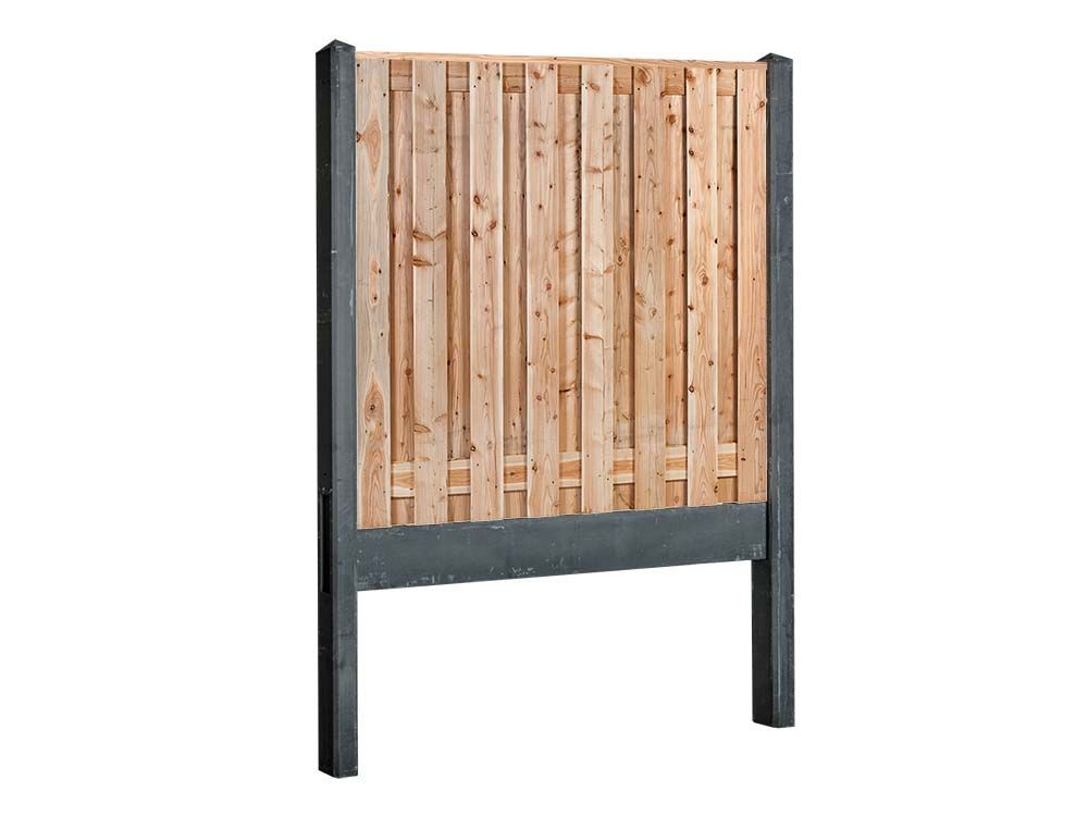 Afbeelding van Douglas hout beton schutting pakket-17 planks -Antraciet