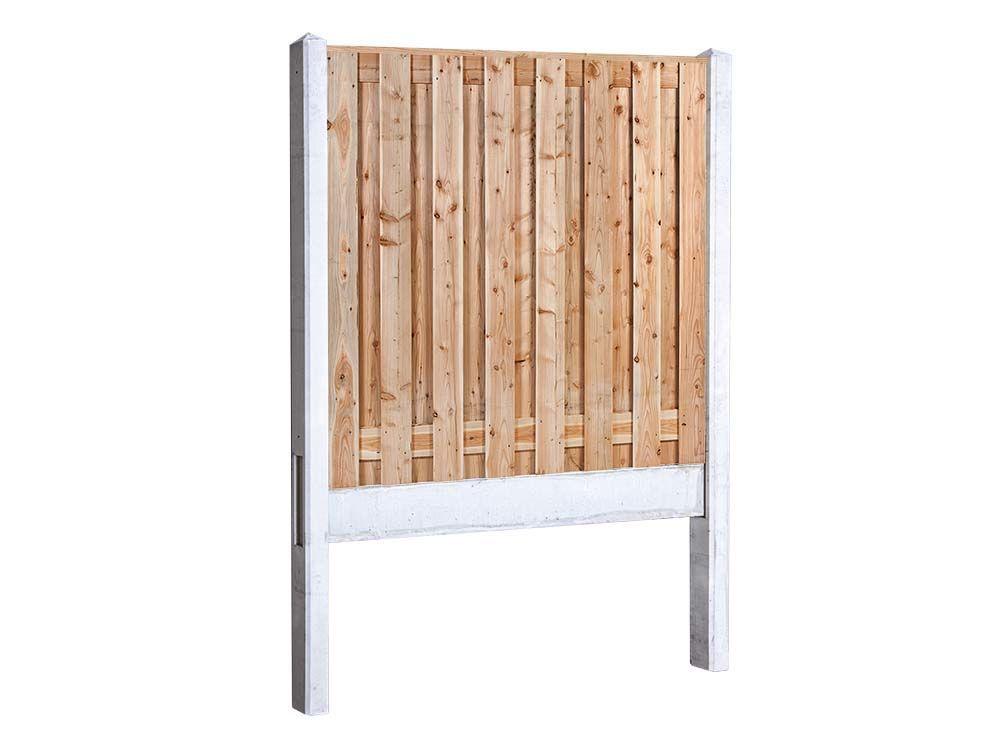 Afbeelding van Douglas hout beton schutting pakket-17 planks -Licht grijs