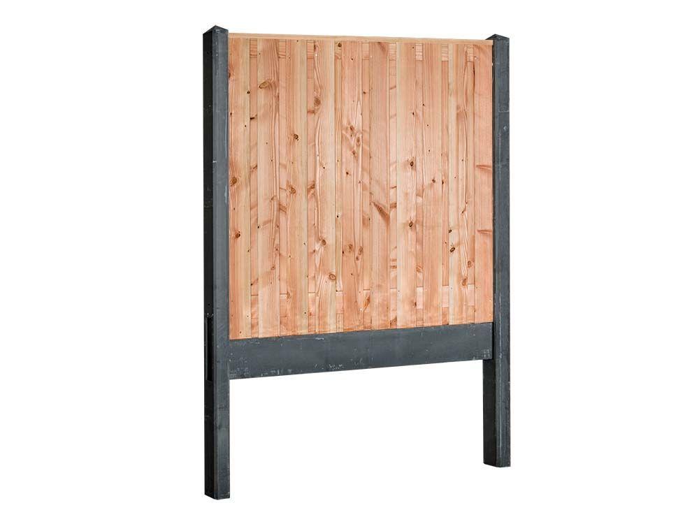 Afbeelding van Douglas hout beton schutting pakket-21 planks-Antraciet