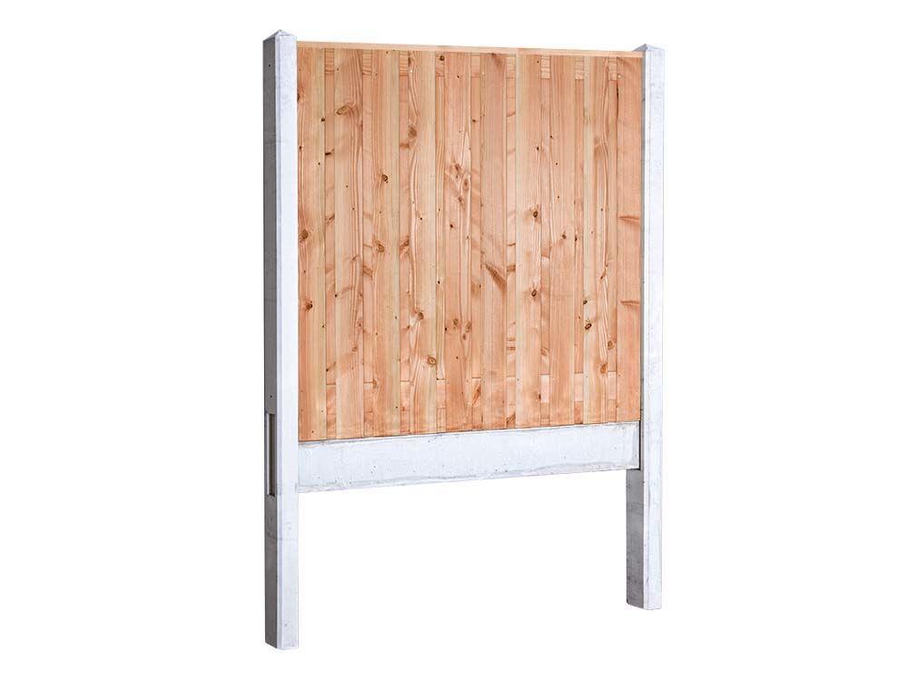Afbeelding van Douglas hout beton schutting pakket-21 planks-Licht grijs