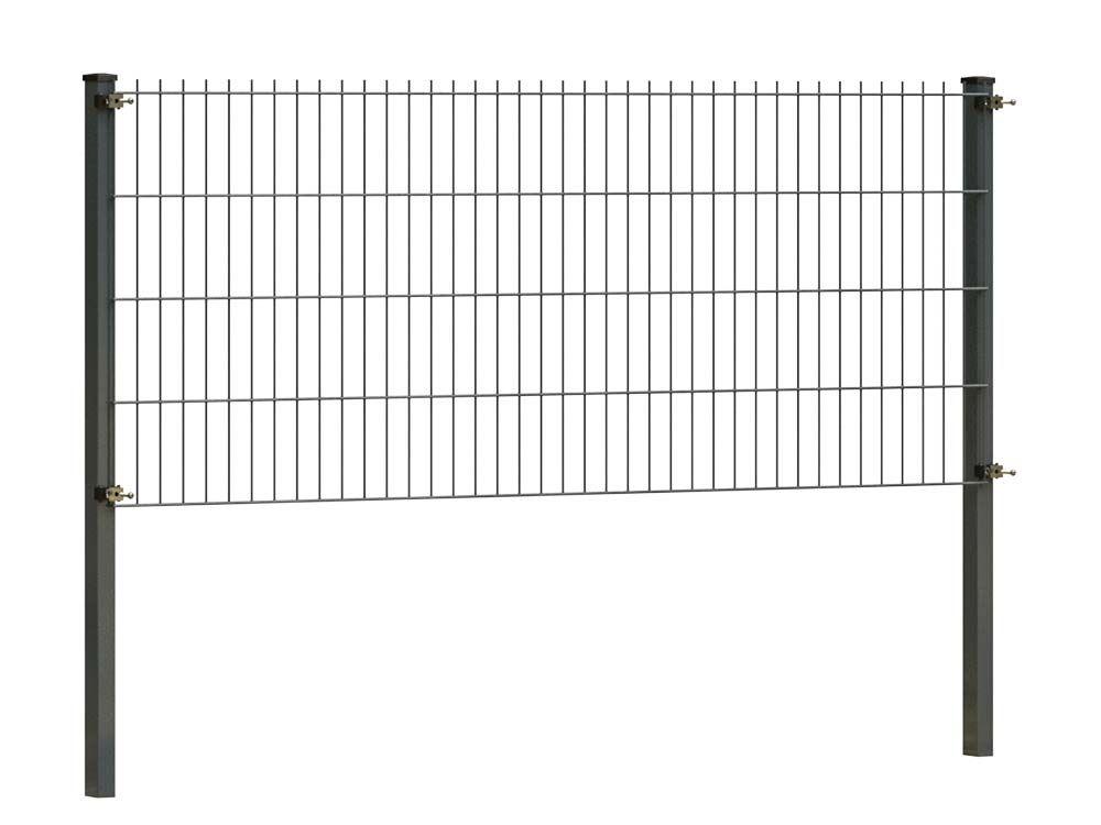 Afbeelding van Dubbelstaafmat hekwerk compleet pakket-83 cm-Antraciet RAL7016