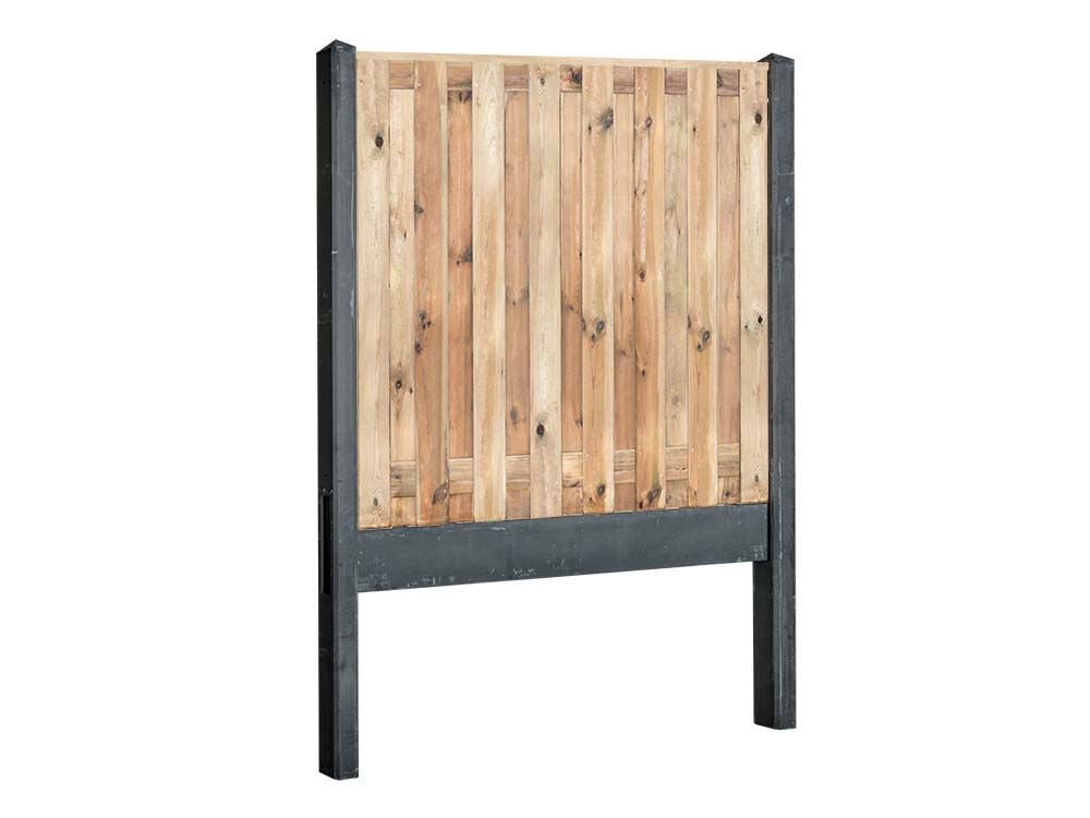 Afbeelding van Grenen hout beton schutting-17 planks -Antraciet