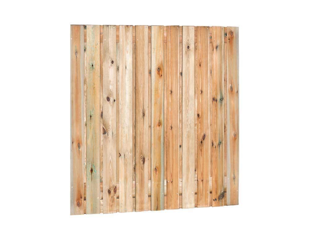 Afbeelding van Grenen tuinscherm | 23 planks | 180 x 180 cm