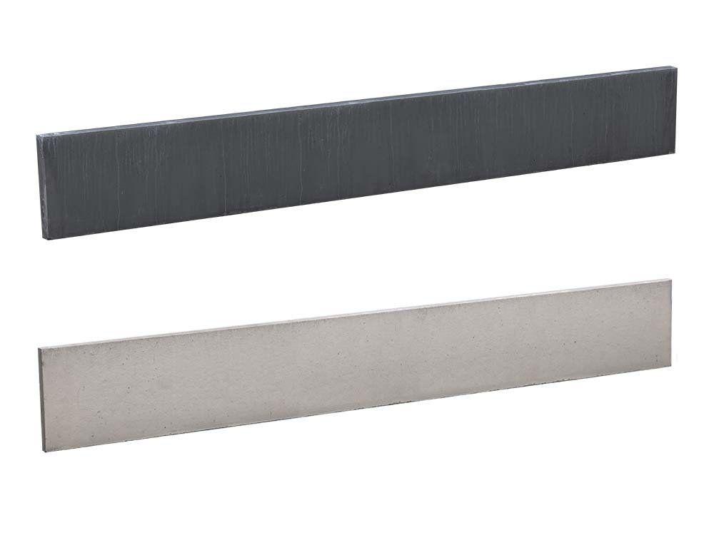 Afbeelding van Betonnen onderplaten voor hout betonschuttingen | breedte 184 cm