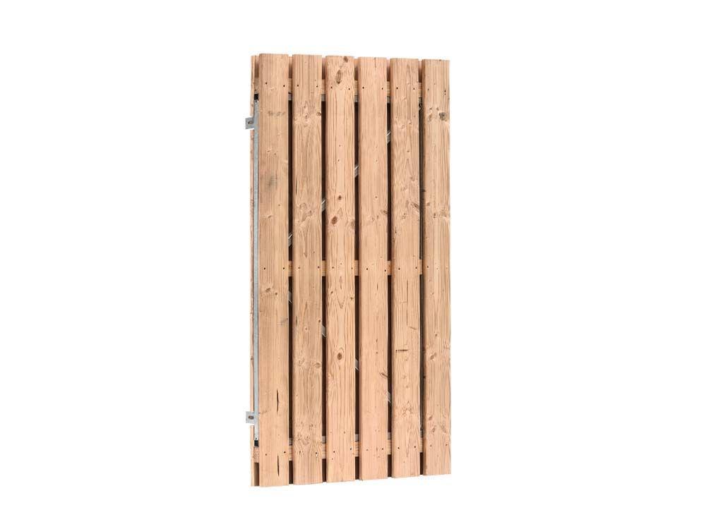 Afbeelding van Douglas poort 190 cm hoog | verkrijgbaar in twee breedtes-Rood-bruin-100 cm