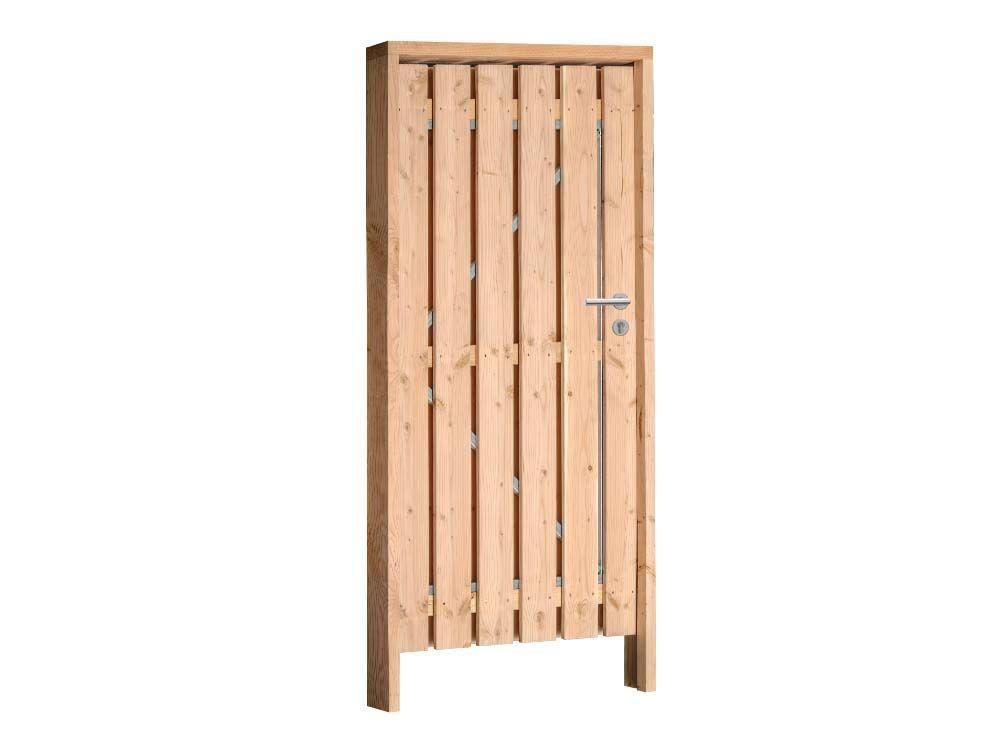Afbeelding van Douglas poort compleet | inclusief hang en sluitwerk-Rood-bruin-100 cm