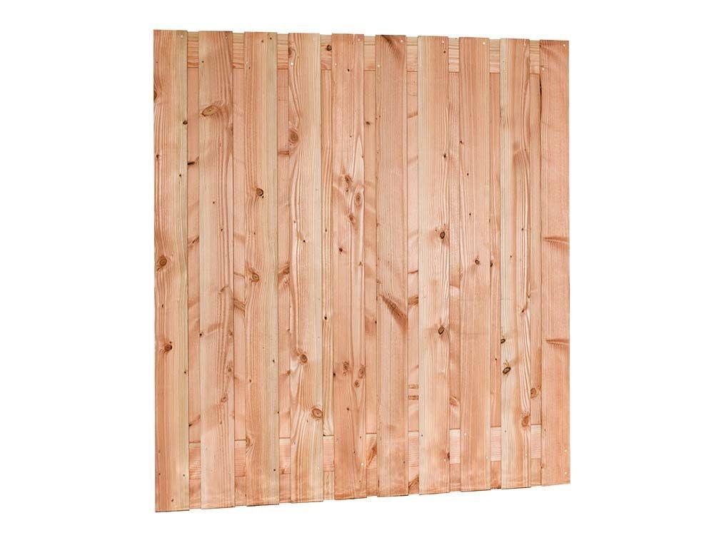Afbeelding van Douglas hout tuinscherm   21 planks   verschillende hoogtes-Rood-bruin-180 cm