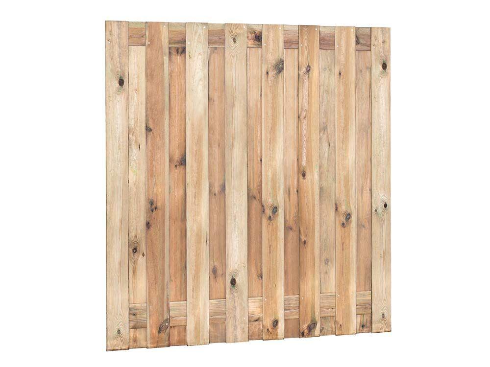 Afbeelding van Grenen tuinscherm | 17 planks | 180 x 180 cm