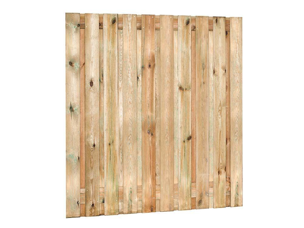 Afbeelding van Grenen tuinscherm | 21 planks | 180 x 180 cm, verloop & 90 x 180 cm