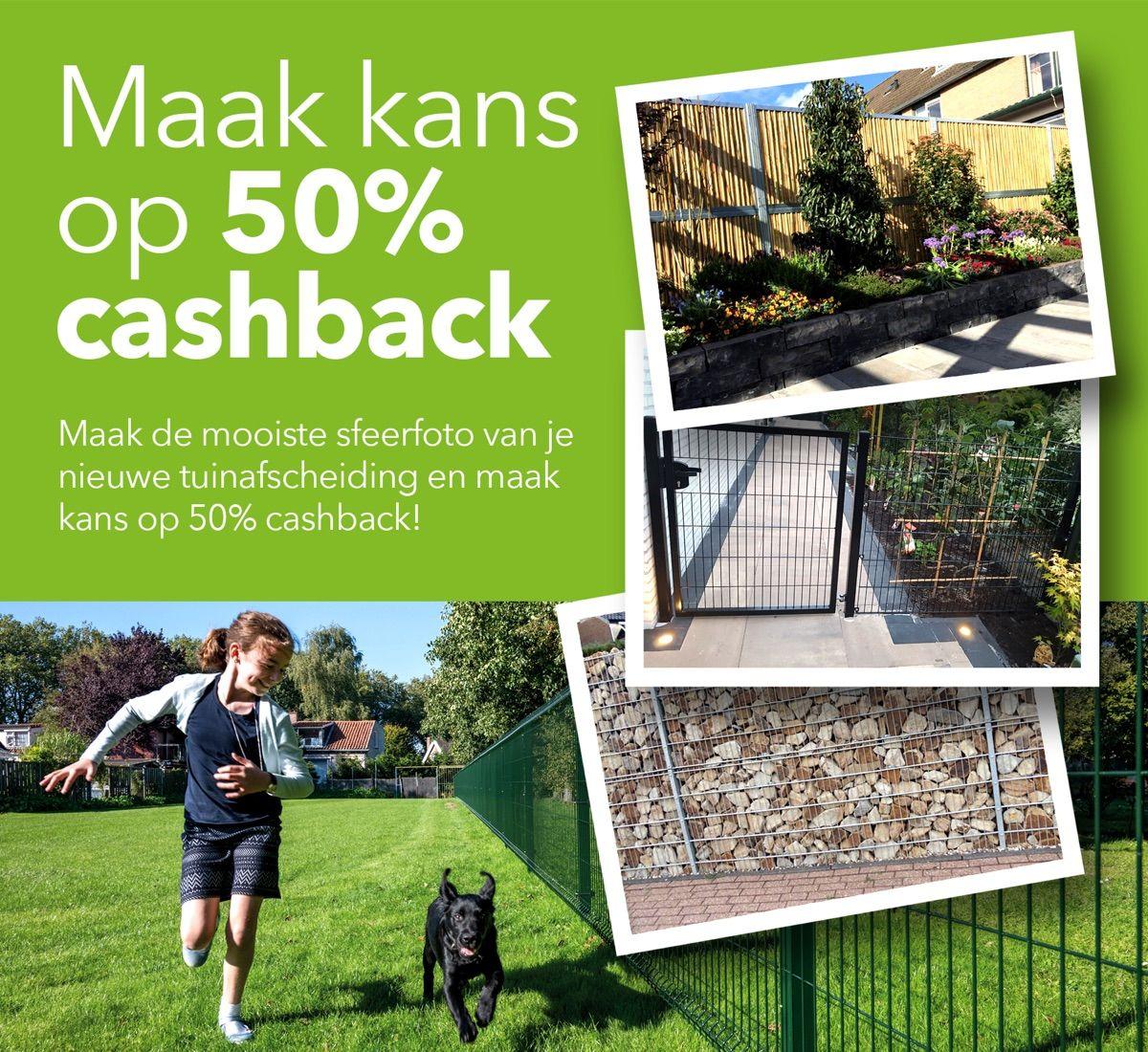 Cashback actie Hekwerkonline.nl